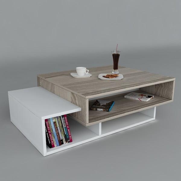 Konferenčný stolík Tab White/Cordoba, 60x105x32 cm