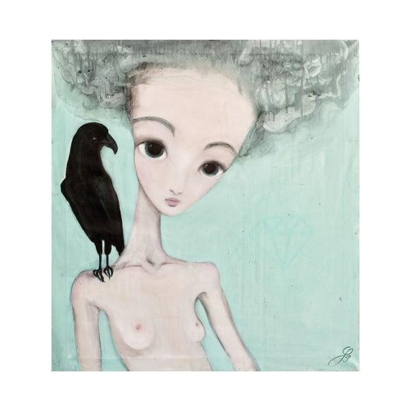 Autorský plagát od Lény Brauner Na vážkach, 60x56 cm