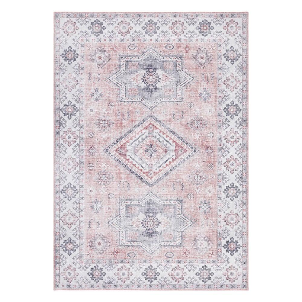 Svetloružový koberec Nouristan Gratia, 120 x 160 cm