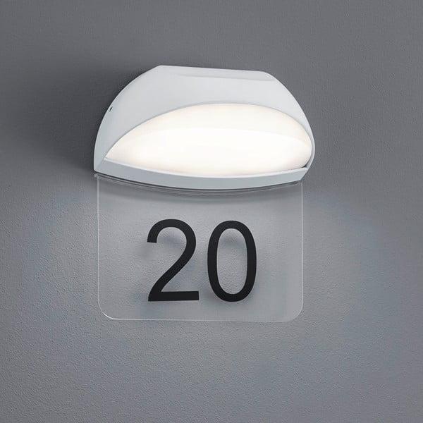 Záhradné nástenné svetlo Muga White, 19 cm