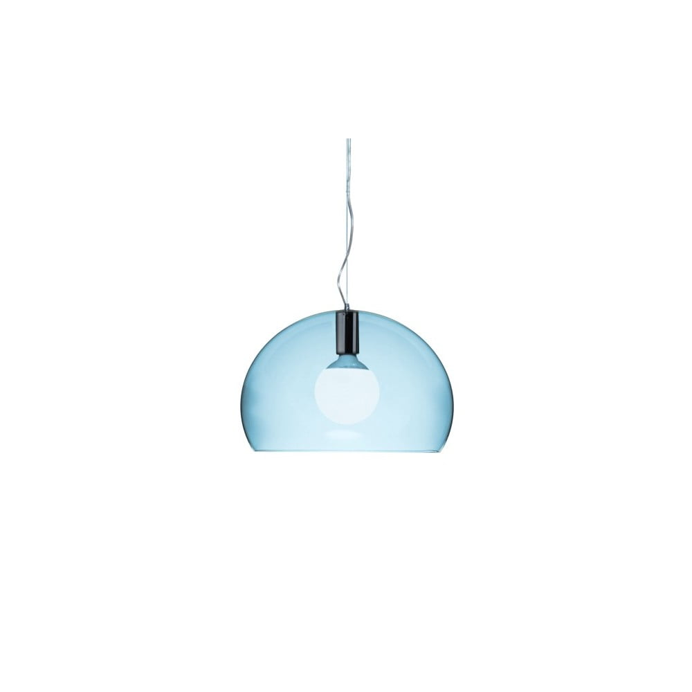 Menšie svetlomodré stropné svietidlo Kartell Fly