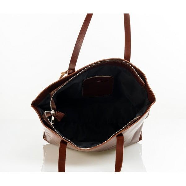 Kožená kabelka Aurel, hnedá