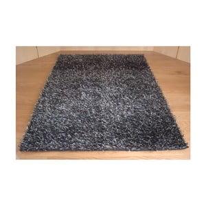 Koberec Shaggy Black Silver, 60x100 cm