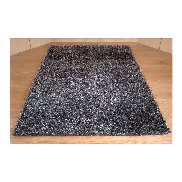 Koberec Shaggy Black Silver, 120x170 cm