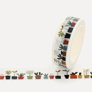 Washi páska U Studio Design Little Plants, dĺžka 4 m