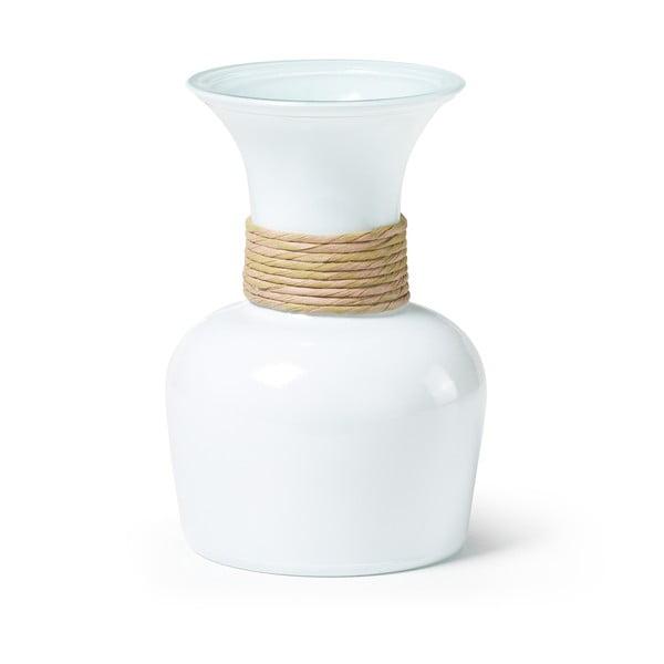 Biela váza z recyklovaného skla La Forma Sarel