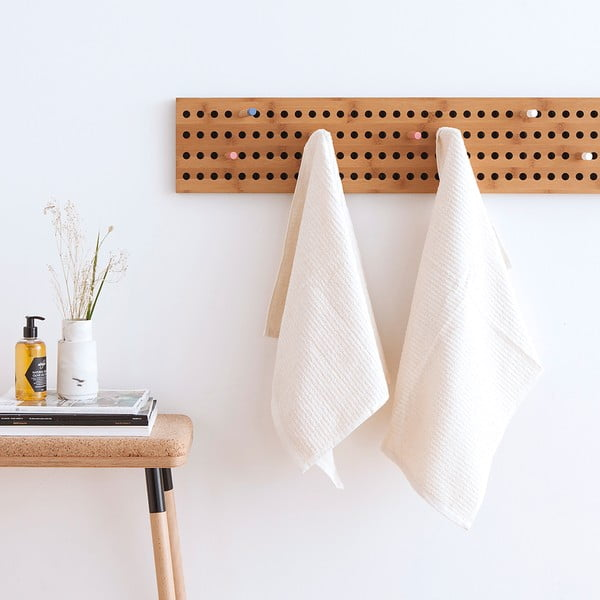 Sada 2 bielych froté uterákov Casa Di Bassi Stripe, 50x90cm