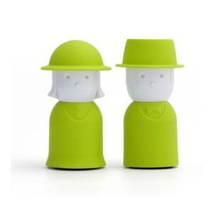Zelená soľnička a korenička Qualy Mr.Pepper & Mrs. Salt