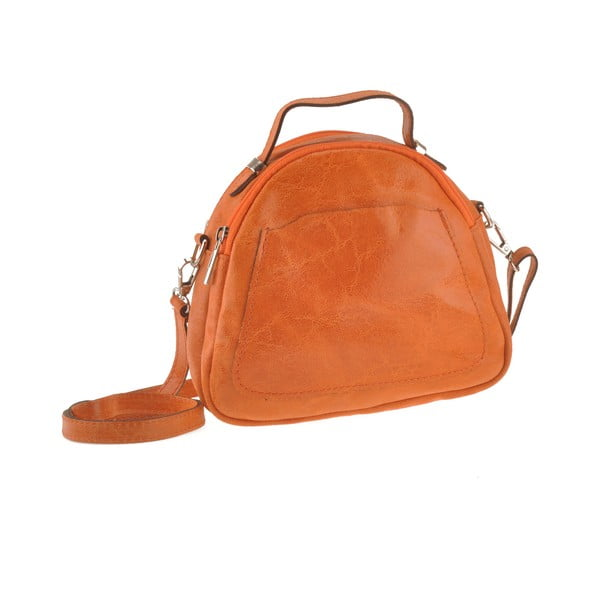 Kožená kabelka Men, oranžová