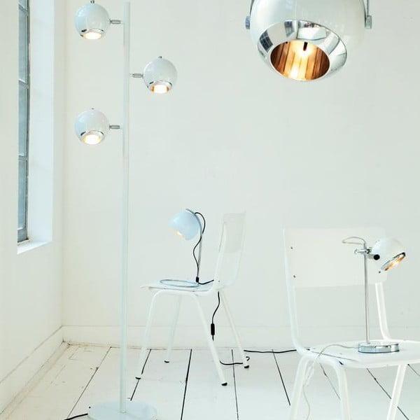 Retro stolová lampa, biela