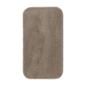 Hnedá kúpeľňová predložka Confetti Miami, 67×120cm