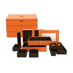 Šperkovnica Module Orange, 30x21x18 cm