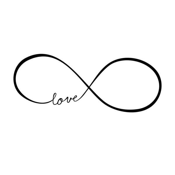 Samolepka na stenu Love Infinity