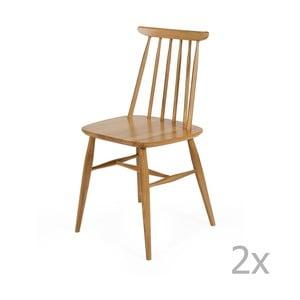 Sada 2 jedálenských stoličiek z masívnej brezy Woodman Aino
