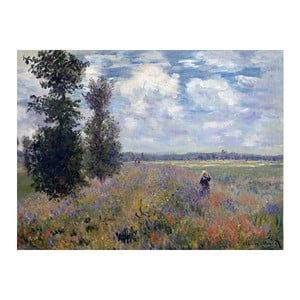 Obraz Claude Monet - Poppy Fields near Argenteuil, 80x60 cm