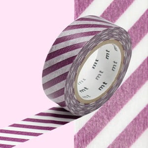 Washi páska Stripe Purple