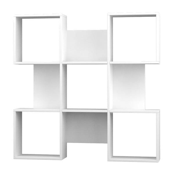 Knižnica Quat 120x120 cm, biela