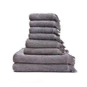 Sada 6 sivých uterákov a 2 osušiek zo 100% bavlny Bonami