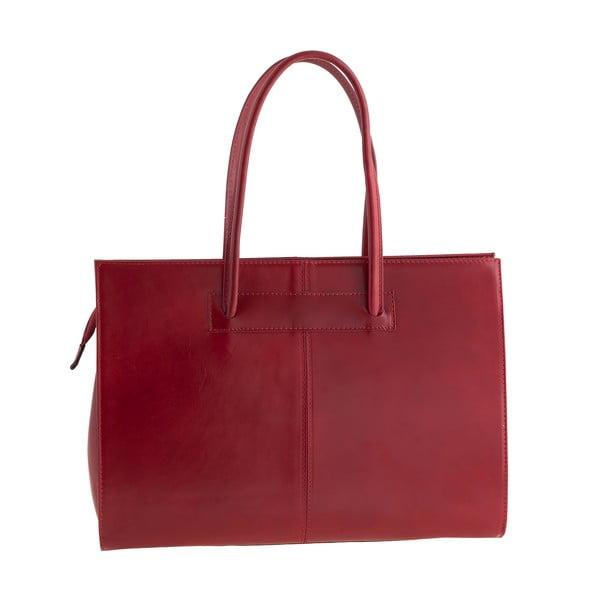 Kožená kabelka Ore Diece Olbia, červená