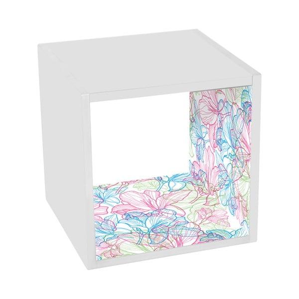 Odkládací stolík Flowers In White