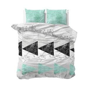 Tyrkysové obliečky Sleeptime Marble Art, 240×220 cm