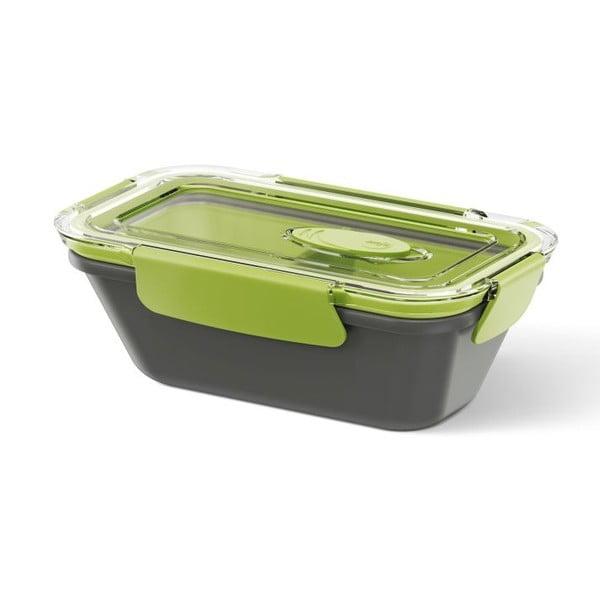 Krabička na potraviny Rectangular Black/Green, 0,5 l