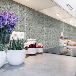 Sada 60 nástenných samolepiek Ambiance Cement Tiles Terrazzo Victorino, 15 x 15 cm