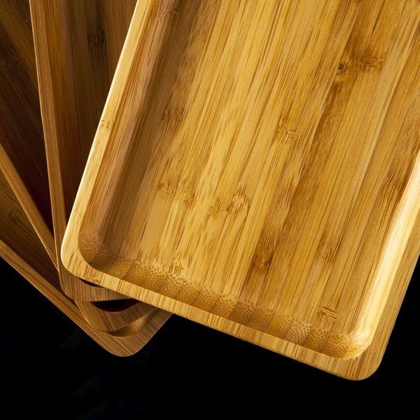 Sada 4 bambusových podložiek pod poháre Bambum Verdure