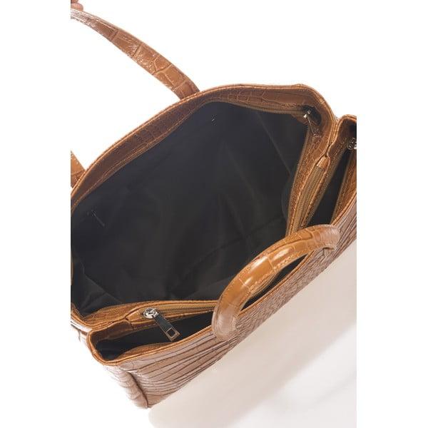 Kožená kabelka Magnata, koňaková