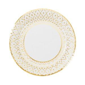 Sada 8 pevných papierových tanierov s dekoratívnym motívom Talking Tables, stredná veľkosť