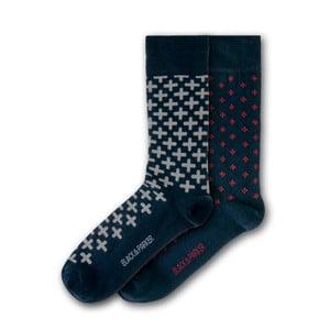 Sada 2 párov ponožiek Black&Parker London Frogmore, veľkosť 37 – 43