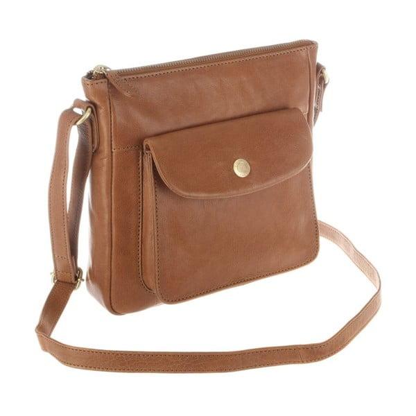 Kožená taška Shirley Dark Tan