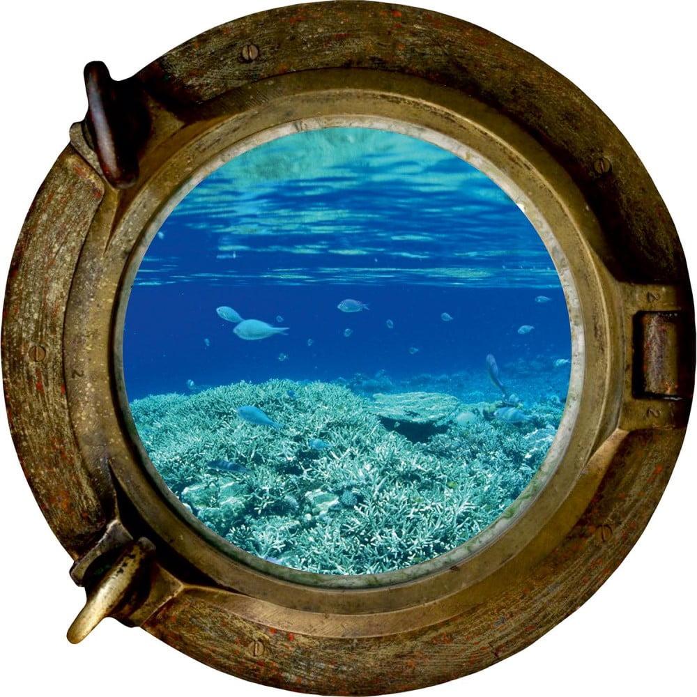 Dekoratívna samolepka na stenu Oceán, 33 × 33 cm
