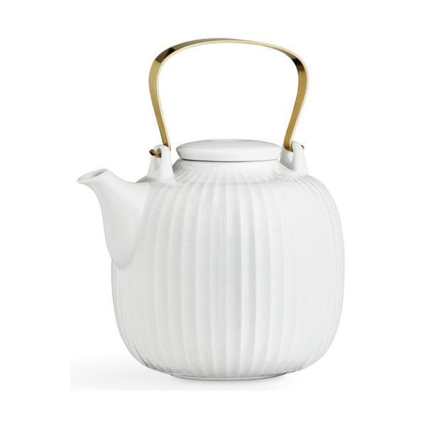 Biela porcelánová čajová kanvica Kähler Design Hammershoi, 1,2 l