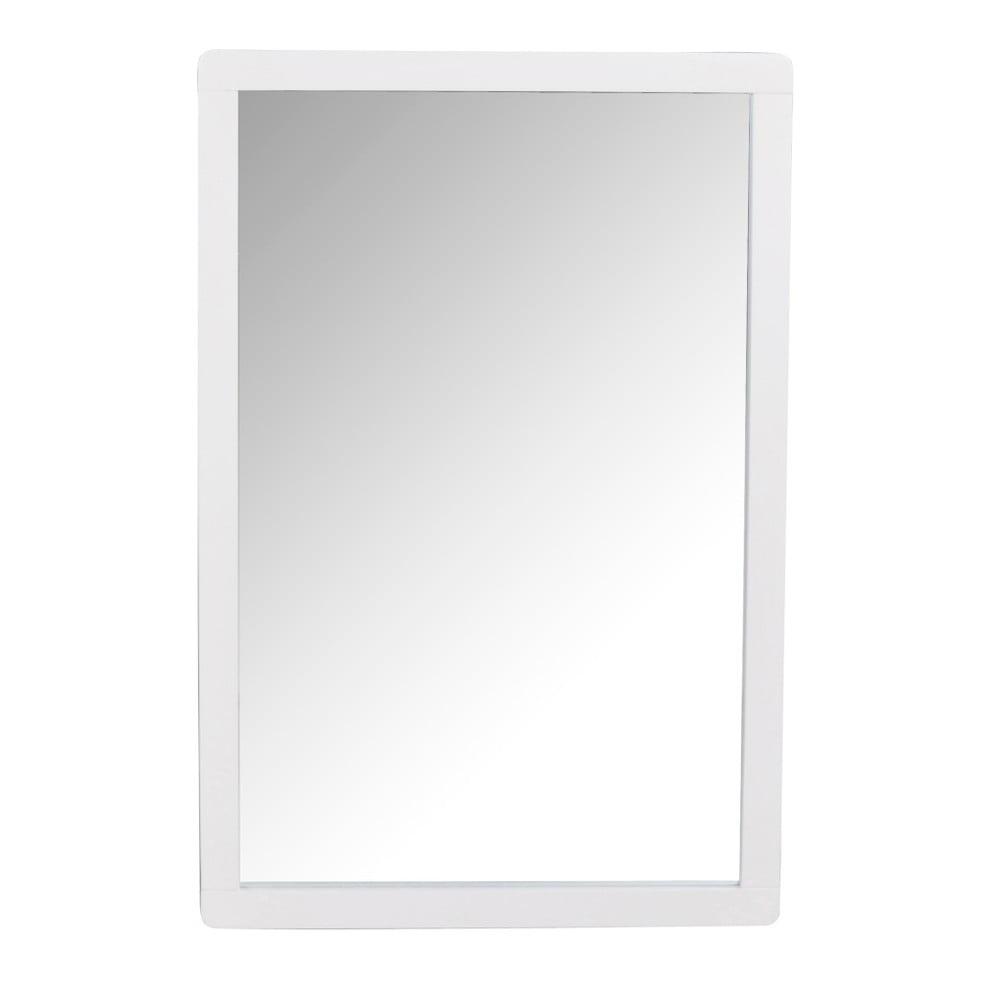 Biele dubové zrkadlo Rowico Metro