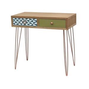 Konzolový stolík z jedľového dreva s 2 zásuvkami Livin Hill Portofino