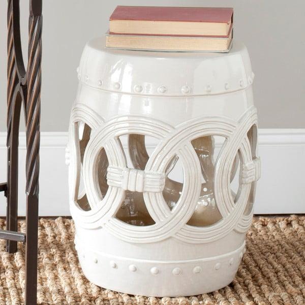 Biely keramický stolík Safavieh Antique White