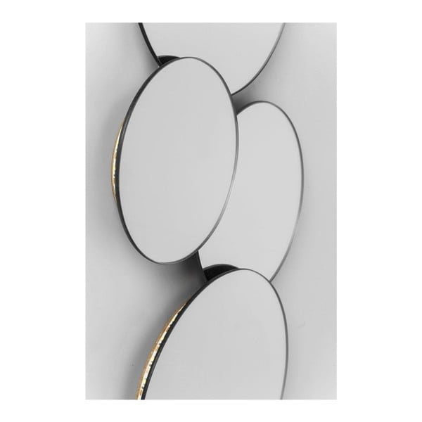 Zrkadlo s LED osvetlením Kare Design Spiegel Pebbles Circles
