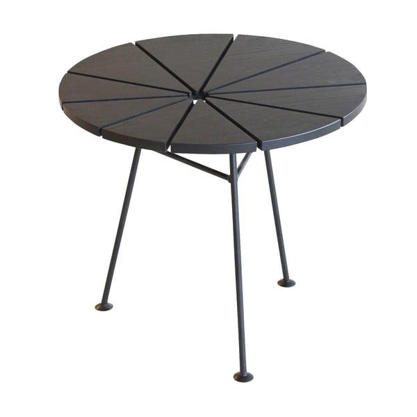 Odkladací stolík Bam Bam, čierny, priemer 50 cm