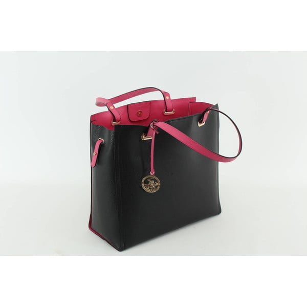 Kabelka Beverly Hills Polo Club 441 - Black/Fuchsia