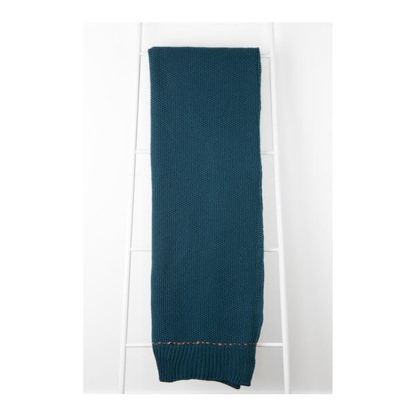 Tmavomodrý pléd Zuiver Aster, 170×130cm