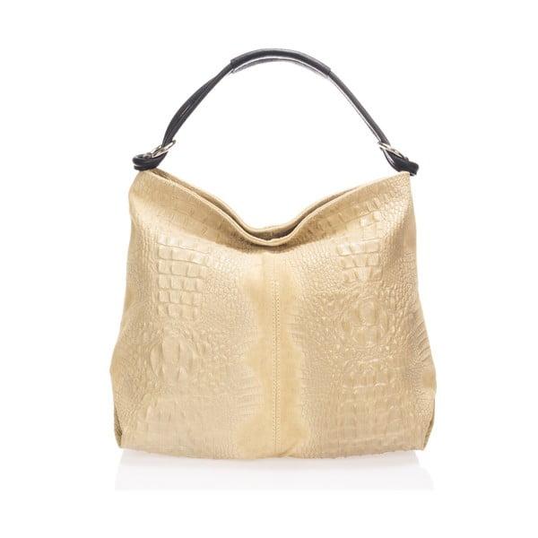 Béžová kožená kabelka Giulia Massari Girosi