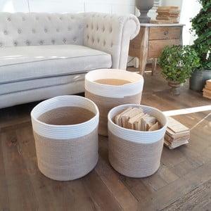 Sada 3 košíkov Cotton Natural