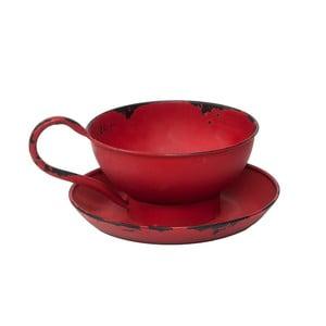 Červený svietnik na čajovú sviečku Novita Cup
