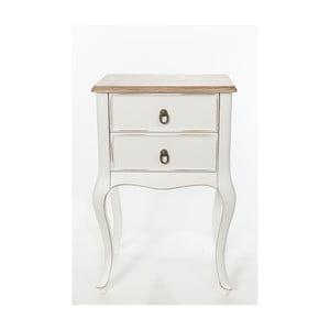 Odkladací stolík Mira Vintage White, 46x33x70 cm