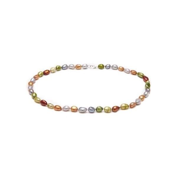 Náhrdelník z riečnych perál GemSeller Scropolia, zelenkavé perly