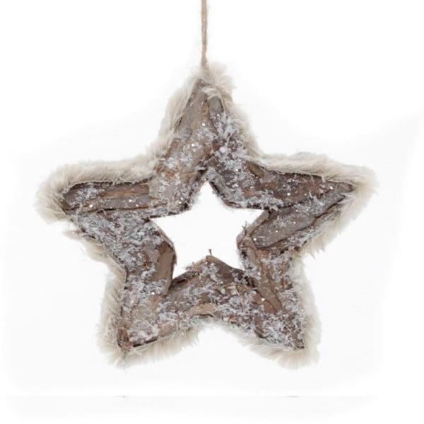 Závesná dekorácia Brown Star