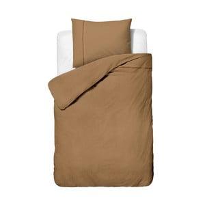 Hnedé obliečky z mikroperkálu na jednolôžko Sleeptime Monte Carlo, 140×200cm