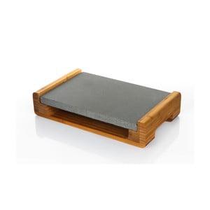 Servírovací podnos s granitovou doskou Bambum, 30 x 20 cm