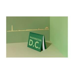 Pozlátená nástenná dekorácia so siluetou mesta The Line Washington DC